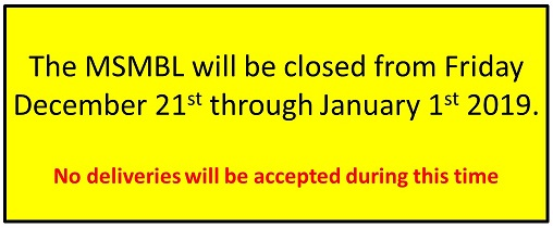 Holiday closure notice